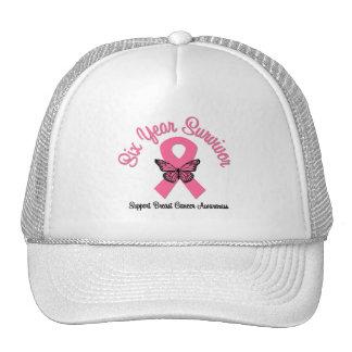 Breast Cancer 6 Year Survivor Mesh Hat