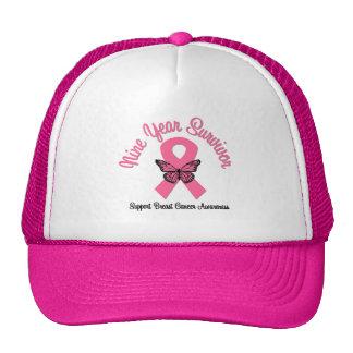 Breast Cancer 9 Year Survivor Hats