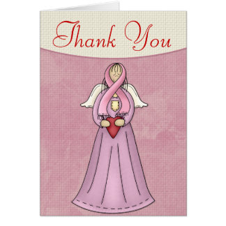 Breast Cancer Angel 1 Thank You Greeting Card