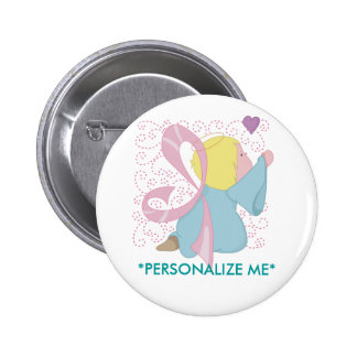 Breast Cancer Angel Button