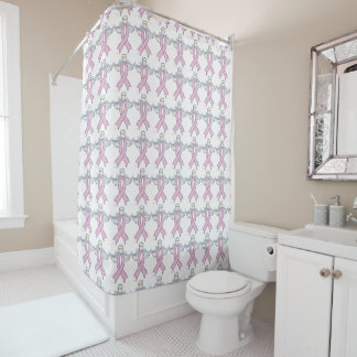 Breast Cancer Angel Shower Curtain