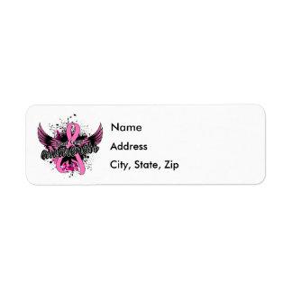 Breast Cancer Awareness 16 Return Address Label