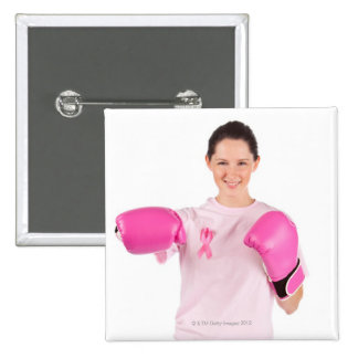 Breast Cancer Awareness 3 15 Cm Square Badge