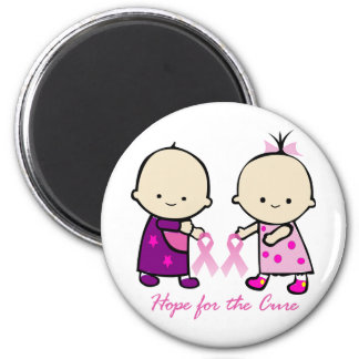 Breast Cancer Awareness 6 Cm Round Magnet