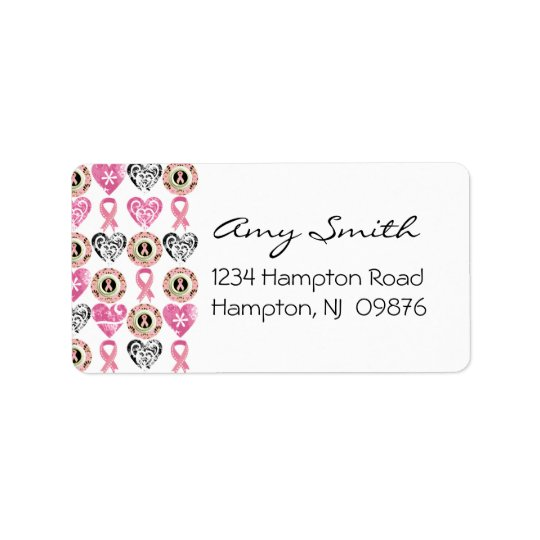 Breast Cancer Awareness Address Label