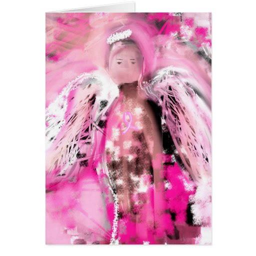 Breast Cancer Awareness Angel #2 Greeting Cards