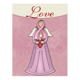 Breast Cancer Awareness Angel D1 Postcard
