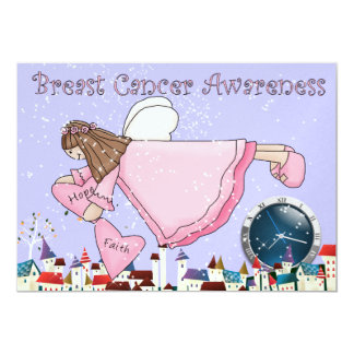 Breast Cancer Awareness Angel Invitation by SRF