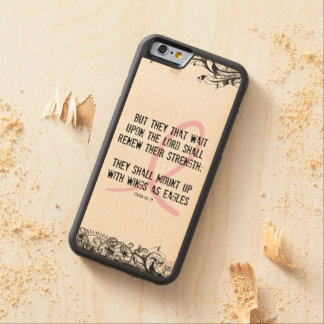 Breast Cancer Awareness Bible Verse Pink Ribbon Carved® Maple iPhone 6 Bumper Case