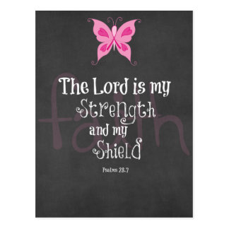 Breast Cancer Awareness Bible Verse Post Card
