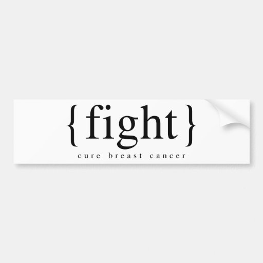 BREAST CANCER AWARENESS BUMPER STICKERS