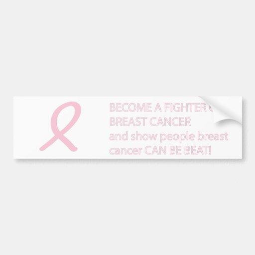 breast cancer awareness BUMPER STICKER