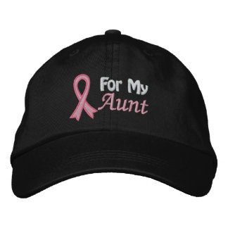 Breast Cancer Awareness For My Aunt Embroidered Baseball Cap