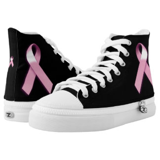 Breast Cancer Awareness High Top Sneakers