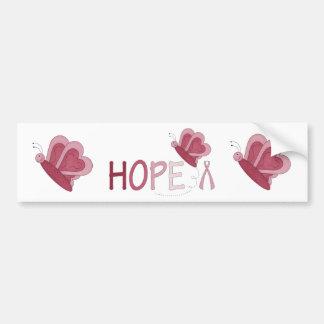 Breast cancer awareness HOPE bumper sticker