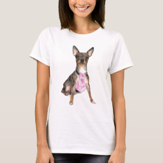 Breast Cancer Awareness Manny the Merle Chihuahua T-Shirt