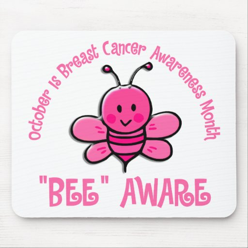 Breast Cancer Awareness Month Bee 1.2 Mouse Pads
