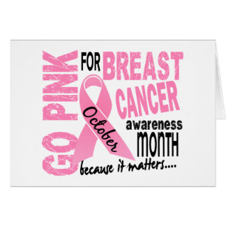 Breast Cancer Awareness Month Greeting Cards