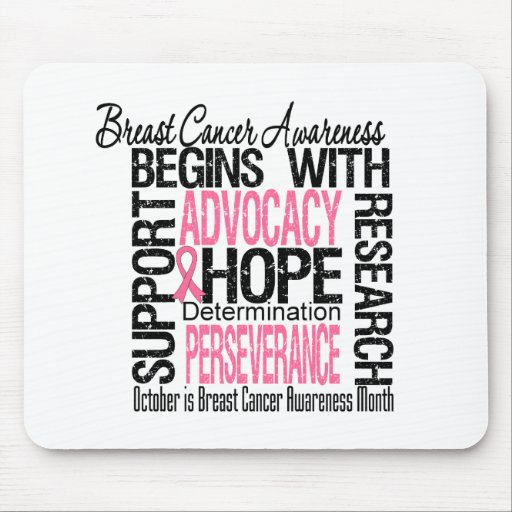Breast Cancer Awareness Month Remembrance Mousepads