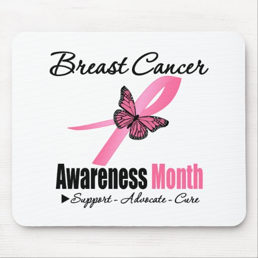 Breast Cancer AWARENESS Month Ribbon Mouse Pads