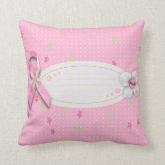 Breast cancer awareness pillow