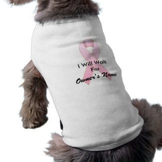 Breast Cancer Awareness Pink Ribbon Designs Sleeveless Dog Shirt