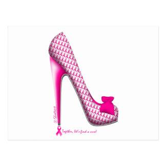 Breast Cancer Awareness Pink Ribbon Heel Postcard
