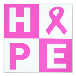 Breast Cancer Awareness Pink Ribbon Hope design Card