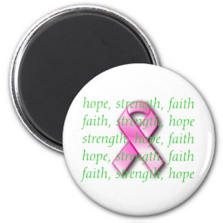 Breast Cancer Awareness Pink Ribbon Magnet