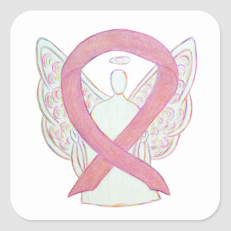 Breast Cancer Awareness Pink Ribbon Sticker Decals