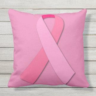 Breast Cancer Awareness Pink Ribbon Throw Pillow