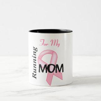 Breast Cancer Awareness - Pink Ribbon Two-Tone Mug