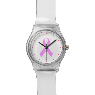 Breast Cancer Awareness Pink Ribbon Watch