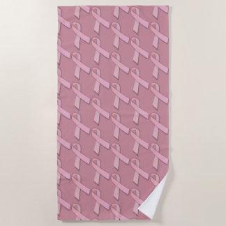 Breast Cancer Awareness Pink Ribbons Beach Towel