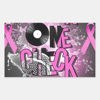 Breast Cancer Awareness Rectangular Sticker