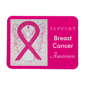Breast Cancer Awareness Ribbon Angel Custom Magnet
