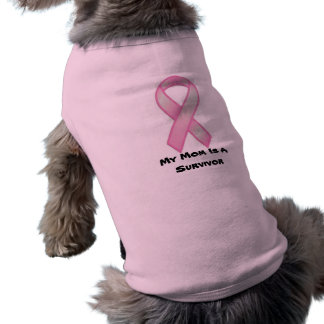 breast-cancer-awareness-ribbon, My Mom Is A Sur... Sleeveless Dog Shirt