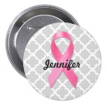 Breast Cancer Awareness Ribbon Personalised 7.5 Cm Round Badge
