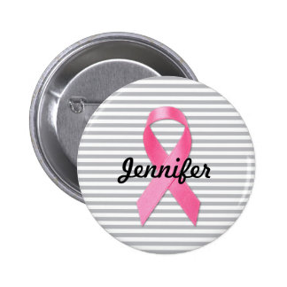 Breast Cancer Awareness Ribbon Personalized 6 Cm Round Badge