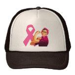 Breast Cancer Awareness Rosie the Riveter Cap