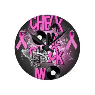 Breast Cancer Awareness Round Clock
