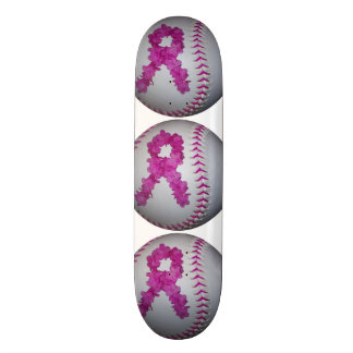 Breast Cancer Awareness Softball Skateboard Decks