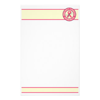 Breast Cancer Awareness stationary - customize Customized Stationery