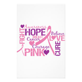 Breast Cancer Awareness Stationery Design