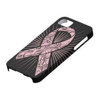 Breast Cancer Awareness Stylized Ribbon Case