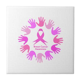 Breast cancer awareness support ceramic tile