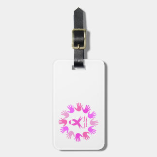 Breast cancer awareness support luggage tag