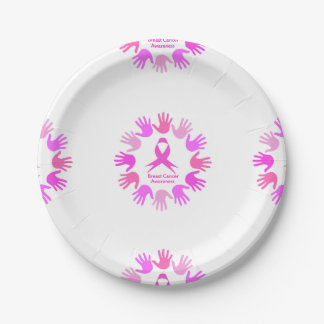 Breast cancer awareness support paper plate