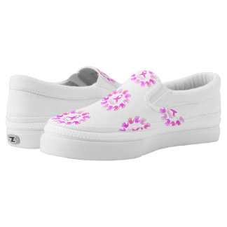 Breast cancer awareness support slip on shoes