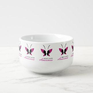 Breast cancer awareness support soup mug